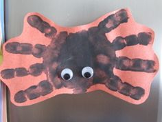 Halloween kids craft: How to make a handprint spider magnet - Raleigh Family Entertainment | Examiner.com