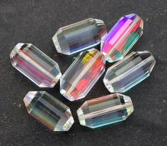 10 Pcs 5 Pair 22x12 mm AAA Rainbow Quartz by gemsinternational