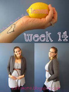 Such a cute idea.  I kept up with the size while I was pregnant but never thought to incorporate it into a picture like this.  Next time...