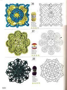 175 Pattern for Crochet Flowers Stitches Easy Freeform Crochet, Crochet Diagram, Crochet Chart, Love Crochet, Crochet Motif, Crochet Designs, Crochet Flowers, Crochet Stitches, Crochet Patterns
