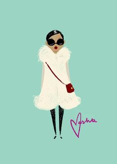 Fashionable. Black Girl Magic on Contemporary Illustrations. 16 photos by Vashti Harrison Illustration