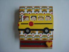 School Bus w/ Children Post-It Note Holder (Gifts under 10 Dollars/ Stocking Stuffers) - Teacher's Gift/Bus Driver on Etsy, $8.50