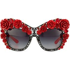 Dolce & Gabbana Dolce Lace Rose & Rhinestone Cat-Eye Sunglasses ($2,610) ❤ liked on Polyvore featuring accessories, eyewear, sunglasses, square glasses, cat eye sunglasses, cat-eye glasses, square sunglasses and rose sunglasses