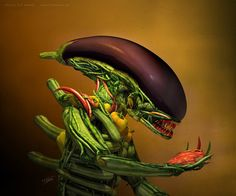 Cool food alien!