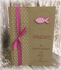 Die besondere Einladung für einen besonderen Tag im Leben Ihres Kindes! - Doppelkarte aus hochwertigem Kartenkarton, Kraftpapier - passendem Umschlag (Kraftpapier) - Einlegeblatt blanko...