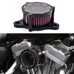 2016 New Universal CNC Aluminum Motorcycle Air Cleaner Intake Filter System for 2004-2016 Harley Davidson Sportster XL 883/1200