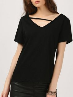 SHARE & Get it FREE | Cozy Cotton T-Shirt - BlackFor Fashion Lovers only:80,000+ Items • New Arrivals Daily Join Zaful: Get YOUR $50 NOW!