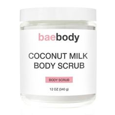 A coconut milk body scrub that exfoliates and moisturizes your skin ($18.00).