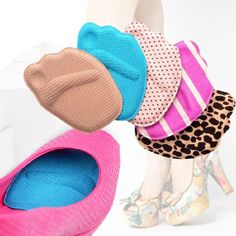 Honesty Gel Insoles Cushions Forefoot Pain Relief Support Front Feet Care High Heel Shoes Slip Resistant Pad Foot Care Tool Fashion Quality First Beauty & Health