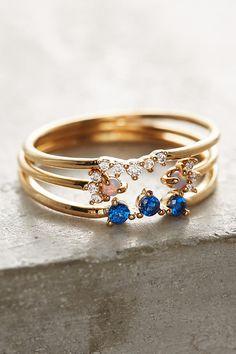 Serene Sapphire Ring Set Anthropologie