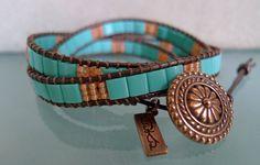 Turquoise Tila Wrap Bracelet