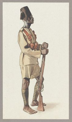 BRITISH ARMY - King's African Rifles, Yao Askari, 1914, by Browne, The Yao were a Moslem people from the region around the southern part of Lake Malawi (formerly in British Nyasaland). They formed the main source of recruits for the King's African Rifles Nyasaland battalions.