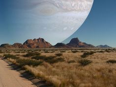 If Jupiter were the same distance from the Earth as the Moon.