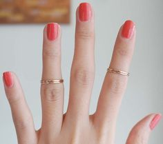 Gold Knuckle Stacking Ring Set of 4
