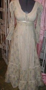 Vintage 70's Gunne Sax Dress Prairie Victorian...