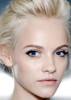 .Dewy skin with a subtle black line at the outer corner. Love!