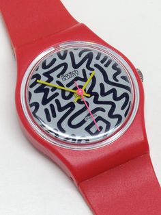 Vintage Ladies Swatch Watch Squiggly LR104 1984 Near Mint Condition by ThatIsSoFunny on Etsy