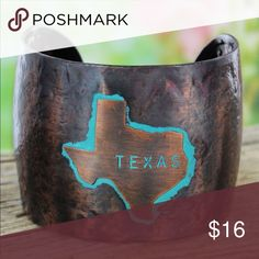 "✨SALE✨TEXAS Cuff Bracelet *Great Gift!! Support your state with this stylish cuff bracelet! Worn Coppertone with Patina Accents Up to 2"" Wide Textured Band 2.25"" Diameter 7.25"" Inside Circumference Including .75"" Gap No Closure      *Lead Compliant Jewelry Bracelets"