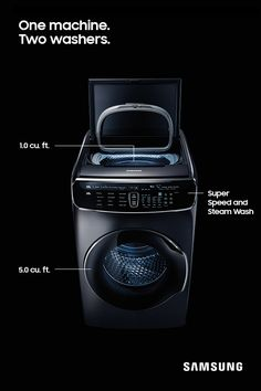 Every part of FlexWash was built to make laundry day easier. With thirteen different wash cycles, this machine can take on any mess. Steam Wash easily removes stains, while Super Speed cuts down your laundry time to just a half hour.