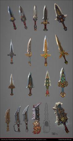 Daggers concepts - Game: Allods Online