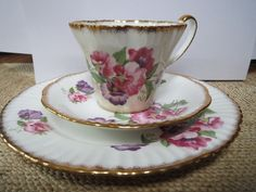Pink And Purple Flowers, Salisbury, Tea Sets, Tea Cup Saucer, Main Colors, Teacup, Coffee Cups, Pots, Tableware