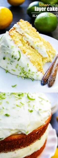 This Lemon-Lime layer Cake from Real Housemoms has the perfect combination of…