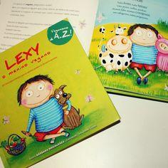 """Lexy o menino vegano ❤ Um livro que """"explica o veganismo de uma forma divertida …"""