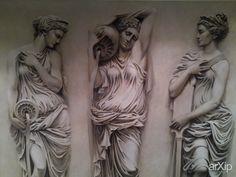 Нимфы: интерьер, живопись, квартира, дом, античность, баня, сауна, хамам, 0 - 10 м2, реализм, мифологический, масло #interiordesign #visualarts #apartment #house #antiquity #bath #sauna #hammam #010m2 #realism #mythological #oil arXip.com