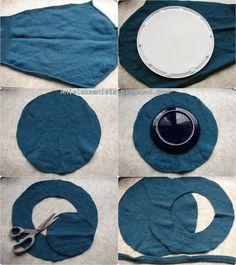 how to sew a beret / jak uszyć beret ? / krok po kroku   Anielska Aniela-Blog o przeróbkach i szyciu ubrań- Sewing and Refashion -Diy