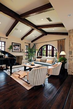 Stunning floors! Orange Coast Interior Design  Great balance of rustic, contemporary, and traditional.