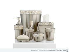 Paradigm Bath Accessories, Opal Satin Copper Canister - - Macy's Bridal and Wedding Registry Contemporary Bathroom Accessories, Gold Bathroom Accessories, Contemporary Bathrooms, Decorative Accessories, Bathroom Sets, Bathroom Faucets, Bathroom Stuff, Simple Bathroom, Bathroom Interior