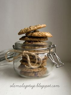 Buttery-cranberry-white chocolate- oatmeal cookies with a hint of vanilla and lemon