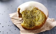 Lemon Muffins with Chia seeds and Honey Glaze