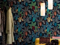 Wallpaper with floral pattern THE GARDEN By Wall&decò design Lorenzo De Grandis