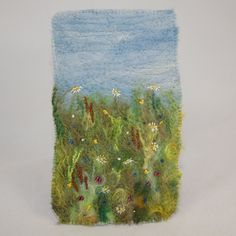 Embroidered and Felted Hanging - Daisy Meadow. £25.00, via Etsy.