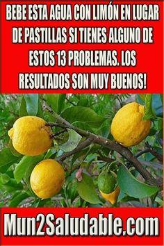 BEBE ESTA AGUA CON LIMÓN EN LUGAR DE PASTILLAS SI TIENES ALGUNO DE ESTOS 13 PROBLEMAS. LOS RESULTADOS SON MUY BUENOS! #salud #remedios
