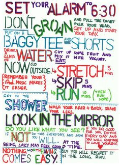 A plan for each morning- I absolutely love this | the berry