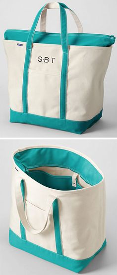 Lands' End Turquoise Tote Bag. Would make a great diaper bag.