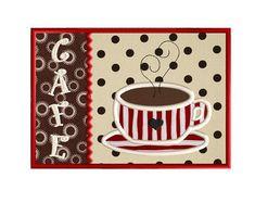 Mug Rug - In The Hoop - Cafe - Applique Embroidery Design