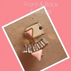 Front & Back Stud Earrings   Super cute pink f&b earrings New. Jewelry Earrings