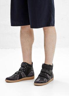 Maison Martin Margiela Velcro Hi Top Sneaker (Black)