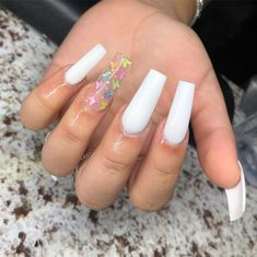 In search for some nail designs and ideas for your nails? Listed here is our list of must-try coffin acrylic nails for modern women. Cute Acrylic Nail Designs, Simple Acrylic Nails, Summer Acrylic Nails, Best Acrylic Nails, Square Acrylic Nails, Summer Nails, Aycrlic Nails, Swag Nails, Acryl Nails