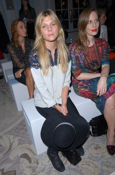 Clemence Poesy Clemence Poesy attends the Erdem show at London Fashion Week Spring/Summer 2012 on September 19, 2011 in London, United Kingd...