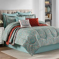 Illuminate your sleep space with the rich tone and subtle sheen of this Sukkar 10-Piece Comforter Set. Large scale medallions create visual interest against a sumptuous cotton ground, exuding exceptional style and comfort in your bedroom.