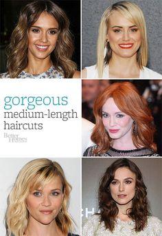 medium-length haircuts.
