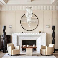 Art Deco living room in Paris by the interior designer Frédéric Sicard. . . . . #artdeco #livingroom #paris #interiordesign…