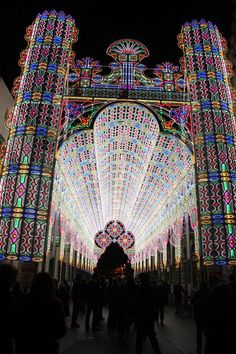 "Belgium light festival- Suddenly the Christmas Decorations on ""its a small world"" don't seem nearly as impressive."