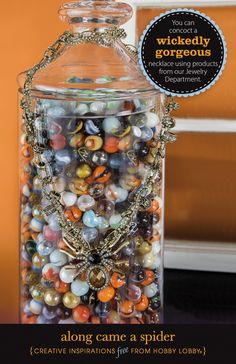 You can concoct a wickedly gorgeous necklace using products from our Jewelry Department.