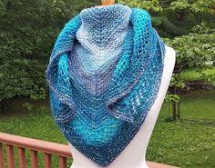 Triangular Shawlette/Scarf Hand Knit Shawl Light Weight