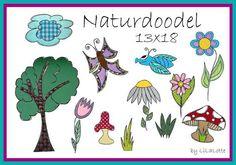 Stickmuster - Stickdatei Naturdoodels 13 x 18 - ein Designerstück von Stoffmotte bei DaWanda
